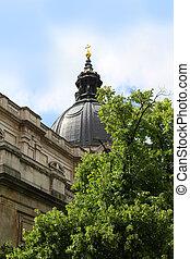 Church dome in London England