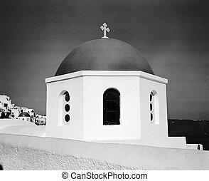 Church Dome In Oia