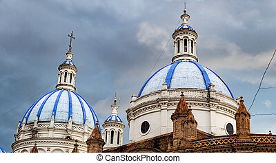 Church domes in Cuenca - The Domes of the New Cathedral is a...