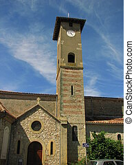 Church, Door, Street, Village of Penne-Agennais