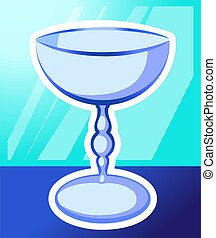 Church - Illustration of bowl in green background