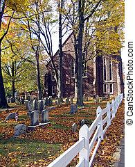 Church Facade As Seen From White Fence