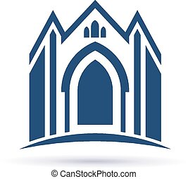 Church facade icon