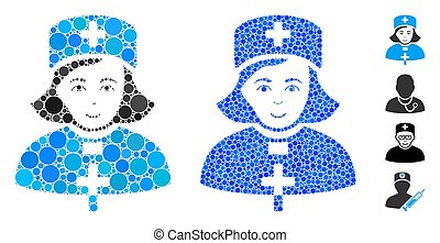 Church Female Doctor Composition Icon of Circles