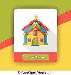 church flat icon
