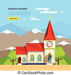 Church Flat Illustration