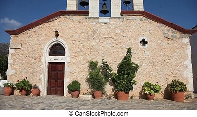Church, Greece, Crete - video footage of a chapel in Crete,...