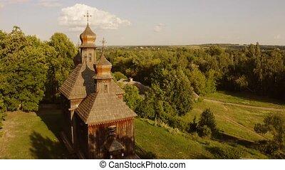 church., hölzern, orhtodox, traditionelle
