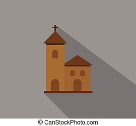 Church icon illustrated in vector on white background
