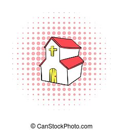 Church icon in comics style