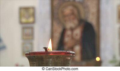 church icon lamp