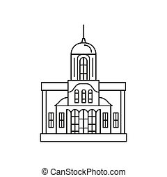 church icon, outline style