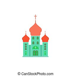 Church Icon Vector. Flat simple color pictogram