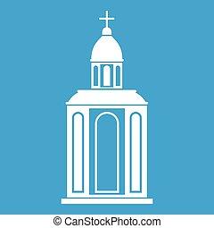 Church icon white
