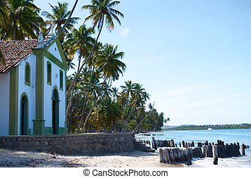 Church in a tropical beach in Brazil