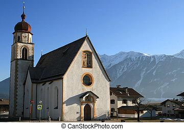 church in a village, Austria