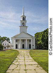 Church in Amesbury, New England