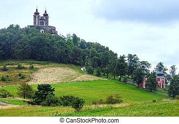Church in Banska Stiavnica (Slovakia) - Reaped strip of...