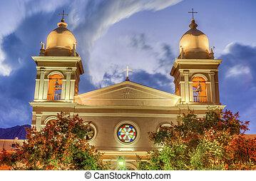 Church in Cafayate in Salta Argentina. - Del Rosario church ...