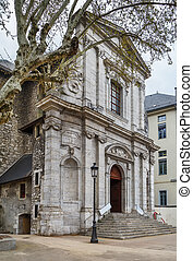Church in the city center of Chambery, France