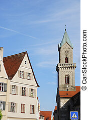 Church in Dinkelsb?hl (Franconia, Germany)