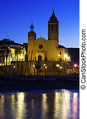 Church  in early morning. Sitges