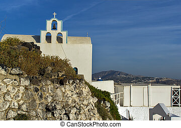 Church in Fira, Santorini, Thira