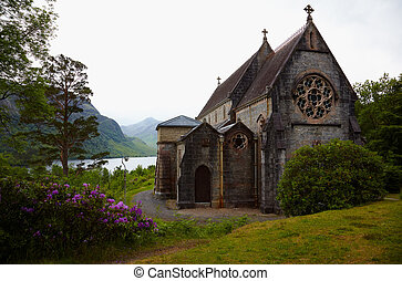 Church in Glenfinnan - Catholic church of St. Maty & St....