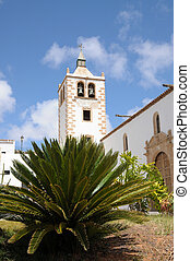 Church in historical town Betancuria, Canary Island Fuerteventura, Spain