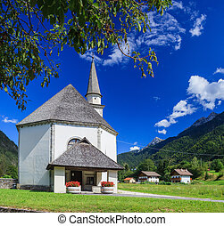 Church in Italian Alps