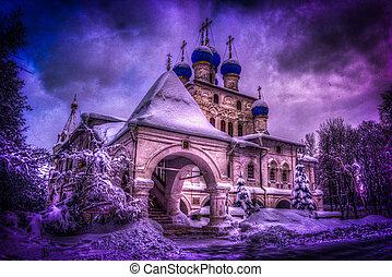 Church in Kolomenskoye park, Moscow, Russia