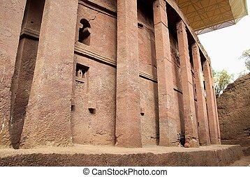 An orthodox church in Lalibela, in Ethiopia