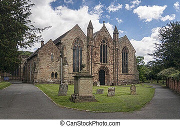 Saint Michael and All Angels Church in the ancient market town of Ledbury, Herefordshire, UK