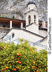 Church in Limone sul Garda. Limone sul Garda, Lombardy,...