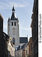 Church in Mechelen in Belgium - The Church of Our Lady...