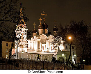 Church in Moscow night view