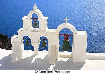 Santorini island Greece - Church in Oia - Santorini island...