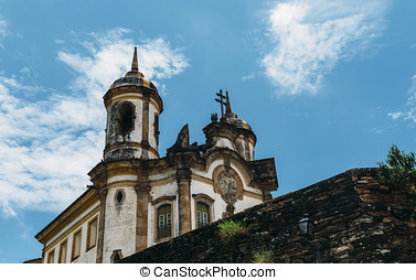 Church in Ouro Preto, Minas Gerais, Brazil - The Church of...