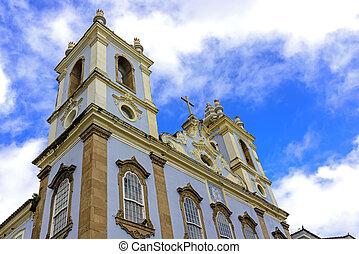 Church in Pelorinho, Salvador - Top Church facade of Our...