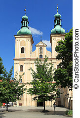 Klodzko, Poland. Baroque Church of Our Lady of Rosary, Franciscan monastery.