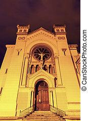 Church in Saint-Etienne. Saint-Etienne, Auvergne-Rhone-Alpes, France.