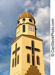 Church in Salento, Colombia - Yellow church in Salento, ...