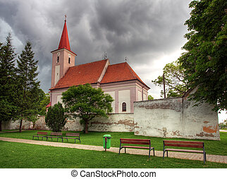 Church in Slovakia city Studienka