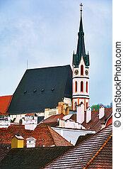 Cesky Krumlov - Church in the Cesky Krumlov, Czech Repulic