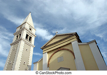 Church in the city Vrsar, Croatia