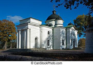 Church in the estate Kachanovka Chernigov region Ukraine