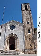 Church in the historic center of Gubbio