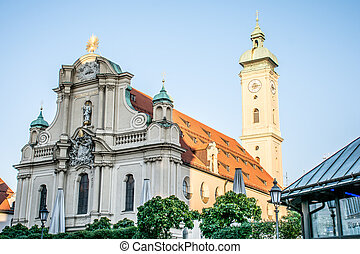 Church in the historic center of the city. Mnchen, Germany