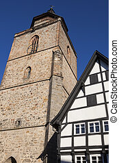 Church in the old town of Alsfeld