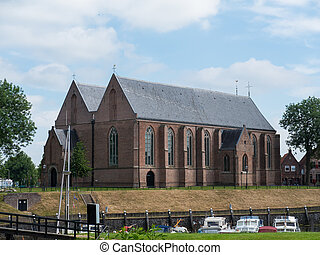 Church in the town of Vollenhove, Netherlands